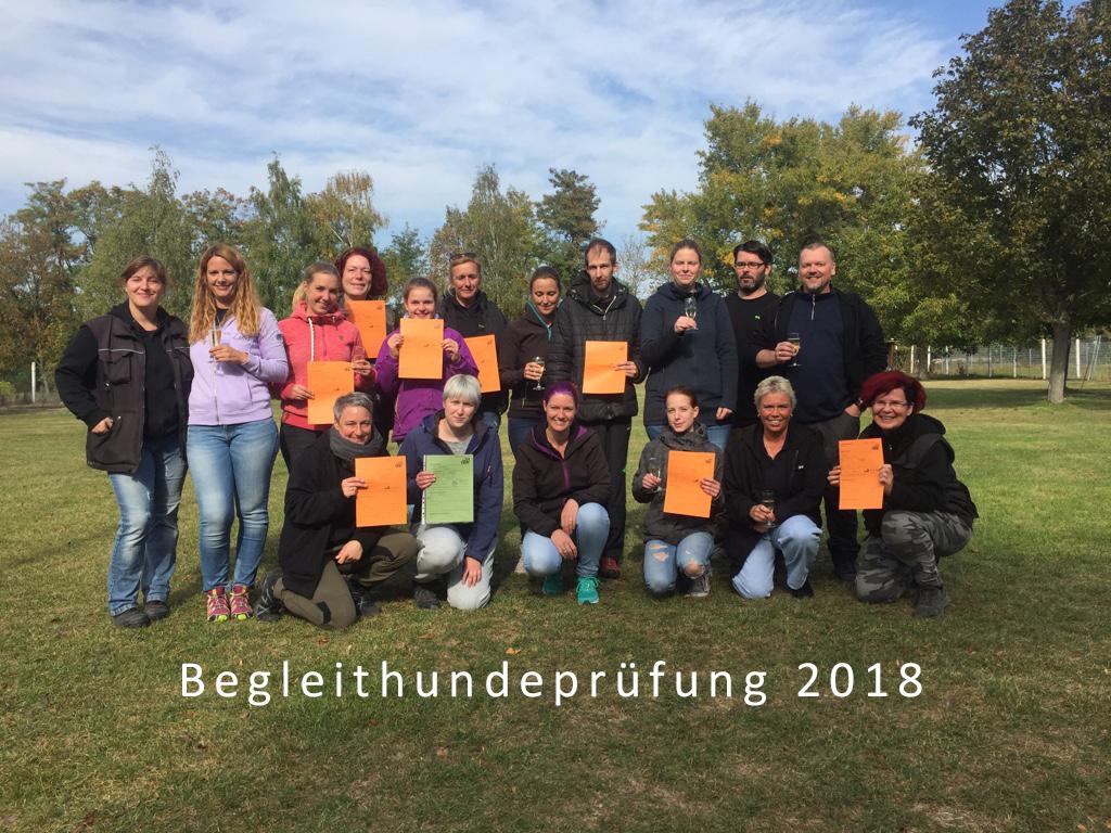 Begleithundeprüfung 2018