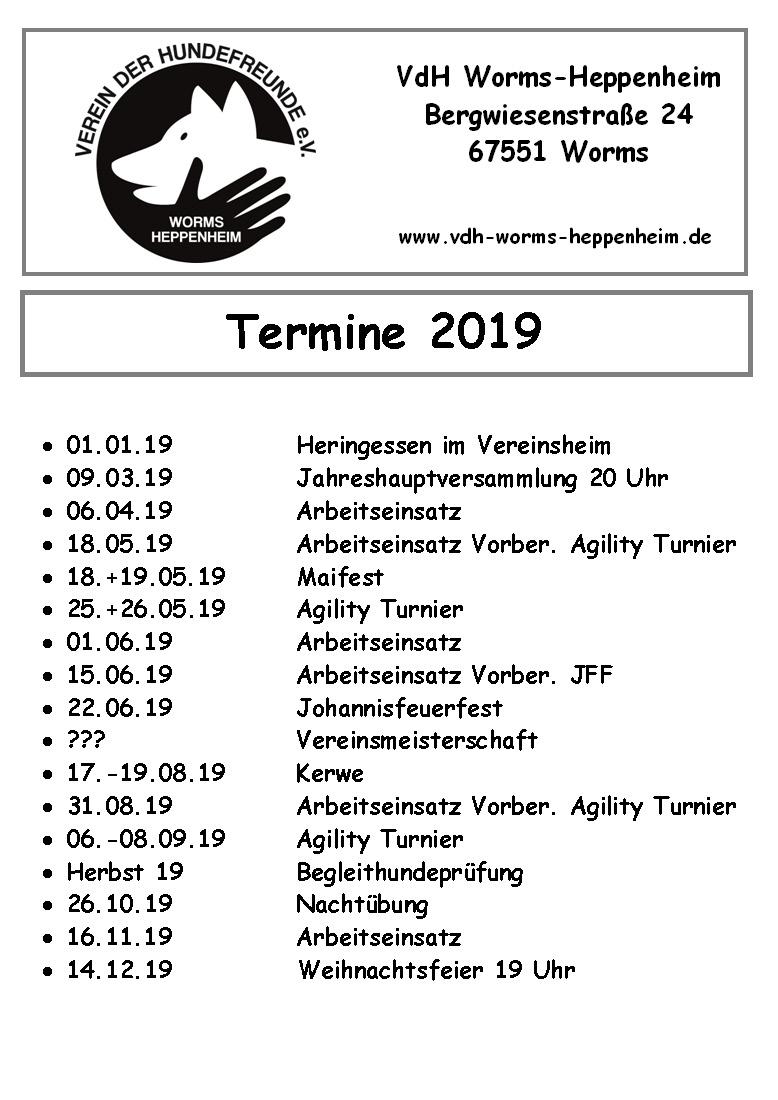Termine-2019